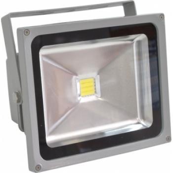 Прожектор квадратный, 1LED/30W-белый 4000K 230V серый (IP65) 222*184*127мм, LL-132