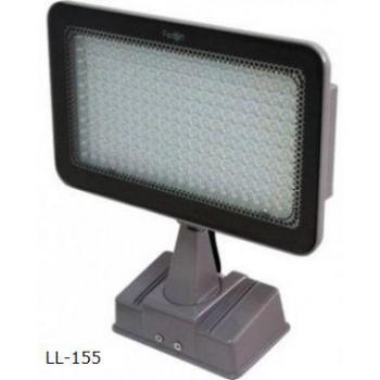Прожектор квадратный, 231LED/0,06W-белый 230V серебрянный (IP54), LL-155