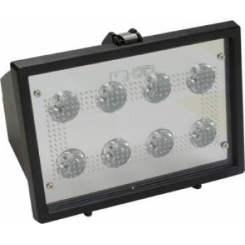 Прожектор квадратный, 8LED/1W-белый 230V черный (IP65) 225*160*75мм LL-123