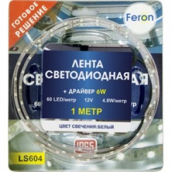 Лента светодиодная, 60SMD(3528)/m 4.8W/m 12V IP65 1m синий, LS604