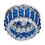Светильник потолочный, JCD9 G9 с прозрачным и синим стеклом, хром, с лампой, CD2119