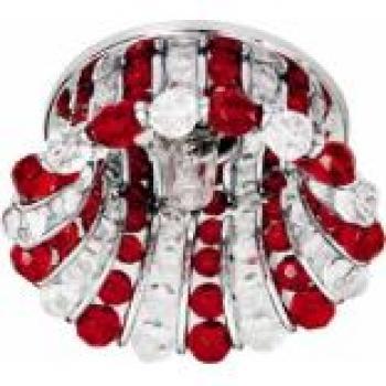 Светильник потолочный, JCD9 G9 с прозрачным и красным стеклом, хром, с лампой, CD2120