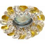 Светильник потолочный, MR16 G5.3 с прозрачным-желтым стеклом, хром, с лампой, CD2316