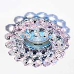 Светильник потолочный, JCDR11 G4.0 с розовым стеклом, хром, с лампой, CD4147