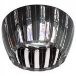 Светильник потолочный, MR16 G5.3 с черным стеклом, хром с лампой, CD2324