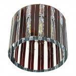 Светильник потолочный, JCD G9 с красным стеклом, хром, с лампой, CD84