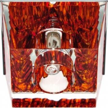 Светильник потолочный, JCD9 35W G9 с прозрачный-красный, хром, JD59