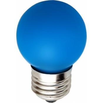 Лампа светодиодная, 5LED(1W) 230V E27 синий, LB-37