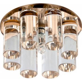 Светильник потолочный, JC G4 с коричневым стеклом, с лампой, 1301