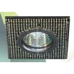 Светильник потолочный, MR16 G5.3 серебро,черный-серебро, 8119-2