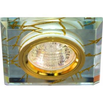 Светильник потолочный, MR16 G5.3 прозрачный-золото, золото, 8149-2