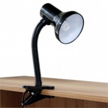 Светильник настольный, ESB 9W 230V Е27 белый, c лампой, DE1622