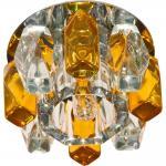 Светильник потолочный,JCD9 35W G9, прозрачный желтый,хром,JD186