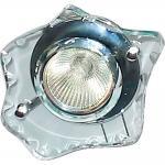 Светильник потолочный, MR16 G5.3 с прозрачным стеклом, хром, c лампой, DL4151