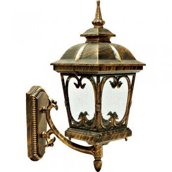 Светильник садово-парковый, 100W 230V E27 черное золото, PL135