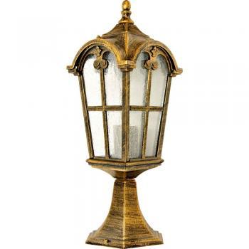 Светильник садово-парковый, 60W 230V E27 черное золото, PL105