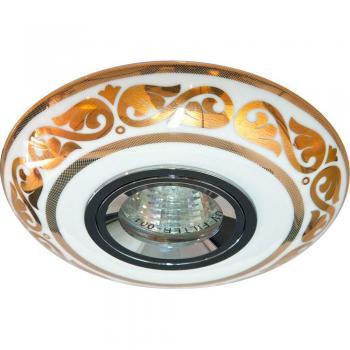 Светильник потолочный MR16 MAX50W 12V G5.3 золото,белый, С2525