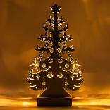 Деревянная световая фигура, 10LED, цвет свечения: теплый белый, 24,5*6,5*43 сm, батарейки 2*AA , IP20, LT087