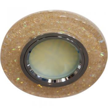 Светильник встраиваемый, 15LED*2835 SMD, MR16 50W G5.3, черный, серебро, 8585-2