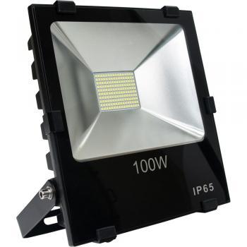 Прожектор светодиодный 2835 SMD 100W 10000LM 6400K AC220V/50Hz 285*250*70mm IP65, черный, LL-844