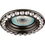 Светильник потолочный MR16 MAX50W 12V G5.3, прозрачный, черный, DL111-C