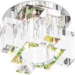 Светильник потолочный, JCD G9 с зеленым стеклом, хром, с лампой, C1037G