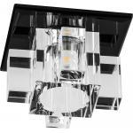 Светильник потолочный 10W 220V/50Hz 600Lm 3000K прозрачный, черный, 1525