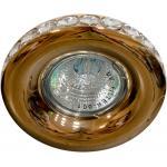 Светильник потолочный MR16 MAX50W 12V G5.3, прозрачный, золото, DL203-C