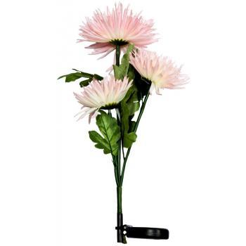 """Светильник садово-парковый на солнечной батарее """"Астра 3шт."""" розовый, 3 LED белый, 80см , PL304"""