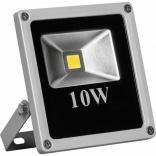 Прожектор квадратный, 1LED/10W- красный 230V серый (IP66) 135*120*45 мм, LL-271