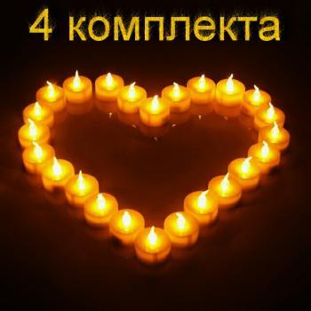 Светильник переносной свеча , 3.8х4.1см, 6 шт, теплый белый