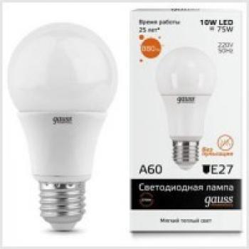 Лампа светодиодная Gauss Elementary LED A60 E27 10W 2700K 1/40