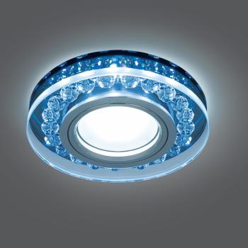 Светильник Gauss Backlight BL047 Кругл. Черный/Кристалл/Хром, Gu5.3, LED 4100K 1/40
