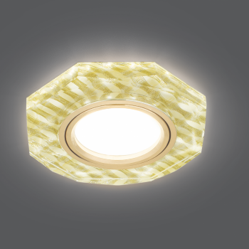 Светильник Gauss Backlight BL079 Восемь гран. Золотые нити/Золото, Gu5.3, LED 2700K 1/40