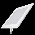 Светодиодный встраиваемый светильник Gauss ультратонкий квадратный IP20 15W 4100K 1/20