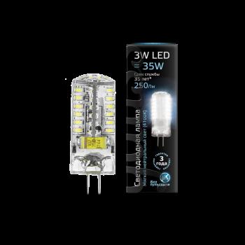 Лампа светодиодная Gauss LED G4 AC185-265V 3W 4100K 1/20/200