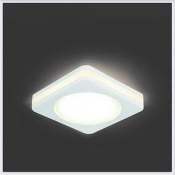Светильник Gauss Backlight BL104 Квадрат. Белый, 8W, LED 3000K 1/60