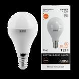 Лампа светодиодная Gauss LED Elementary Globe 6W E14 2700K 1/10/50