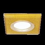 Светильник Gauss Mirror RR011 Квадрат. Кристал золото/Золото, Gu5.3 1/50