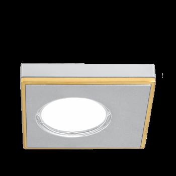 Светильник Gauss Aluminium AL001 Квадрат. Матовый алюминий/Золото, Gu5.3 1/30
