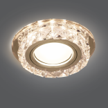 Светильник Gauss Backlight BL039 Кругл. Кристалл/Хром, Gu5.3, LED 2700K 1/40