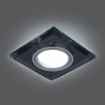 Светильник Gauss Backlight BL060 Квадрат. Графит/Хром, Gu5.3, LED 4100K 1/40