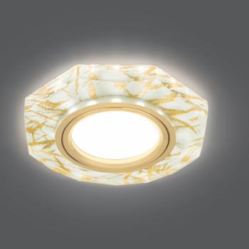 Светильник Gauss Backlight BL072 Восемь гран. Золотой узор/Золото, Gu5.3, LED 2700K 1/40