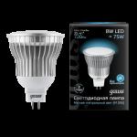 Лампа светодиодная Gauss LED MR16 8W GU5.3 AC220-240V 4100K (нейтральный свет)