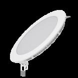 Светодиодный встраиваемый светильник Gauss ультратонкий круглый IP20 12W 2700K 1/20