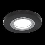 Светильник Gauss Mirror RR001 Круг. Кристал черный/Хром, Gu5.3 1/50