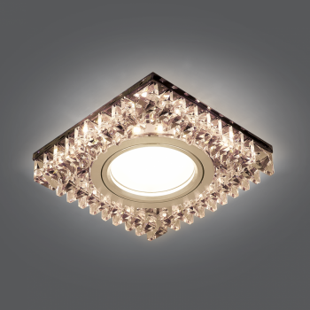 Светильник Gauss Backlight BL031 Квадрат. Черн.Кристал/Хром, Gu5.3, LED 2700K 1/40