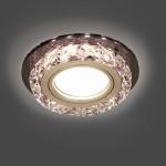 Светильник Gauss Backlight BL041 Кругл. Черный/Кристалл/Хром, Gu5.3, LED 2700K 1/40