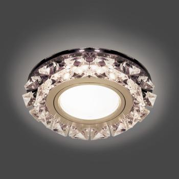 Светильник Gauss Backlight BL051 Кругл. Графит/Кристалл/Хром, Gu5.3, LED 2700K 1/40