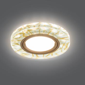 Светильник Gauss Backlight BL073 Круг Золотой узор/Золото, Gu5.3, LED 2700K 1/40